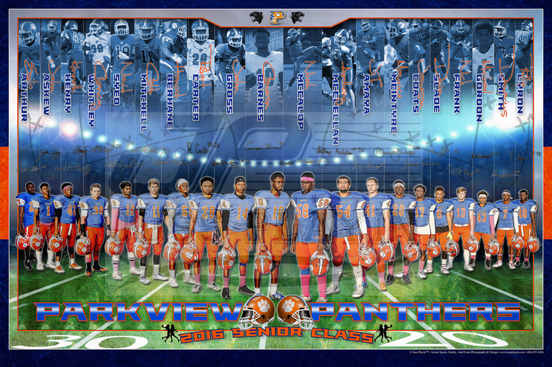 2016 Commemorative Parkview Panthers Football Senior Class Poster